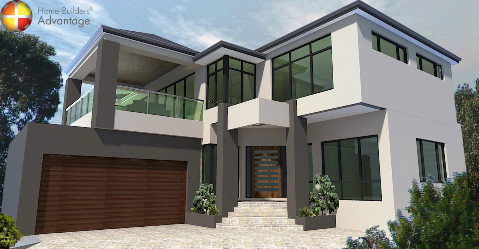 Two Storey House Front Elevation : House behind design front elevation