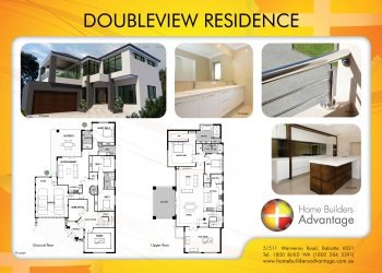 Double storey floor plans for Rear block house designs
