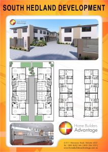 Duplex triplex and quad floor plans by hba for Quad apartment plans