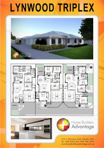 Duplex triplex and quad floor plans by hba for Building a triplex costs
